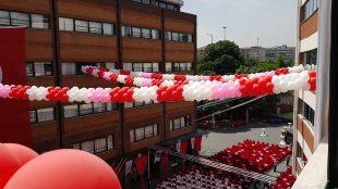 Uğur Koleji Küçükçekmece Nazar boncuğu Zincir balon Dökme balon Süslemesi
